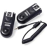 Yongnuo RF-603 N II - Kit de 2 disparadores inalámbricos para cámaras Nikon (2.4 GHz, 120 m, AAA), color negro