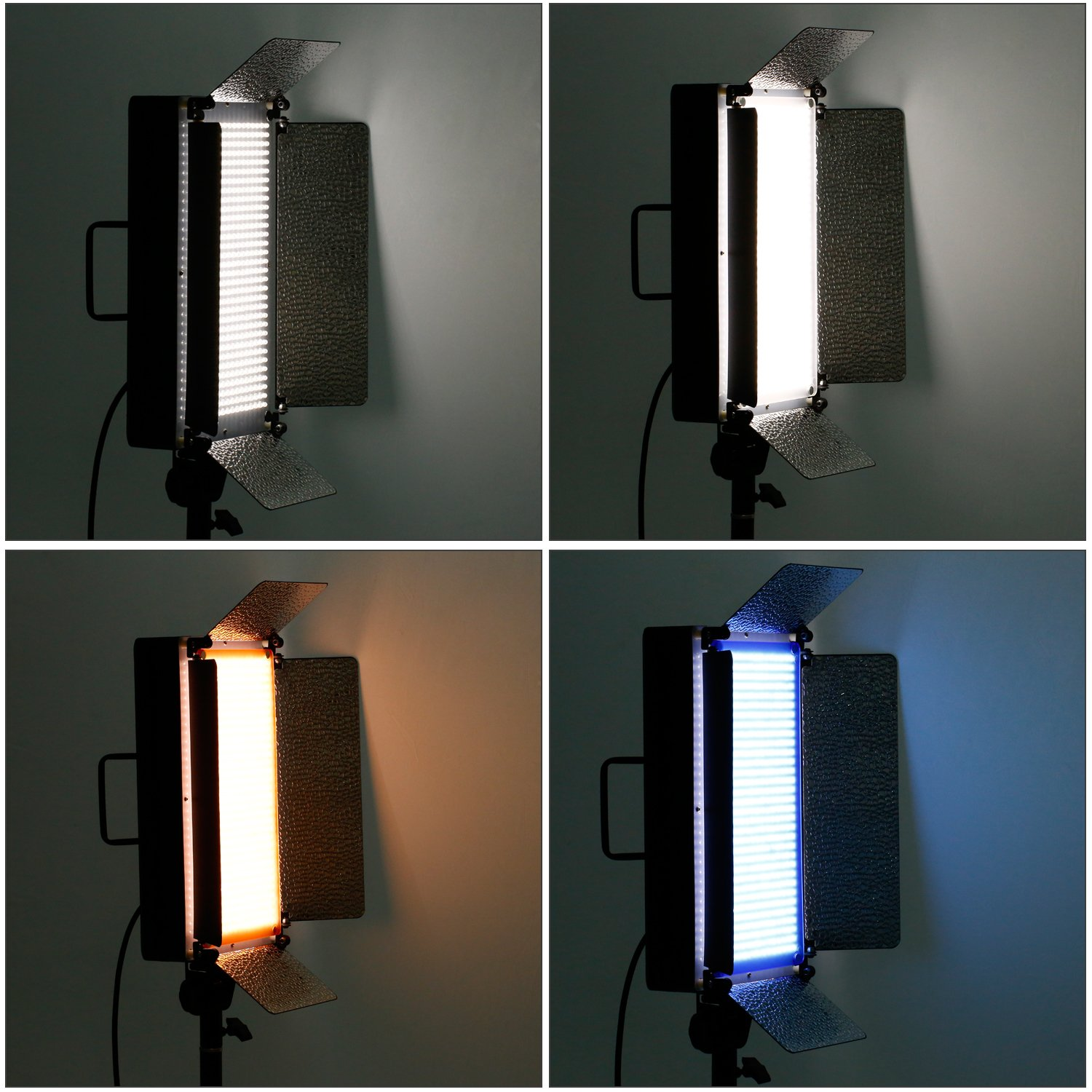 amazoncom neewer 500 led photo studio lighting panel diffuser 2 color and blue and 4 dimmer switch for canon nikon pentax panasonic
