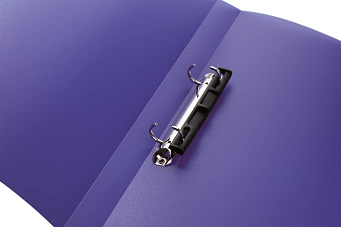 Amazon.com : Herma 19183 Narrow Ring Binder DIN A4 Plastic 25 mm 2 Rings and Compressor Bar, Pack of 1, Clear/Purple : Office Products