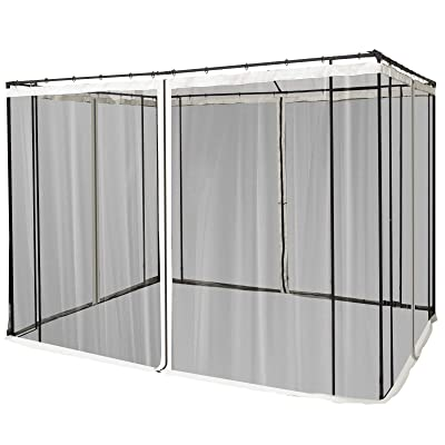 Outsunny Replacement Mesh Mosquito Netting Screen Walls for 10' x 10' Patio Gazebo, 4-Panel Sidewalls with Zippers (Wall Only, Canopy Not Included) : Garden & Outdoor