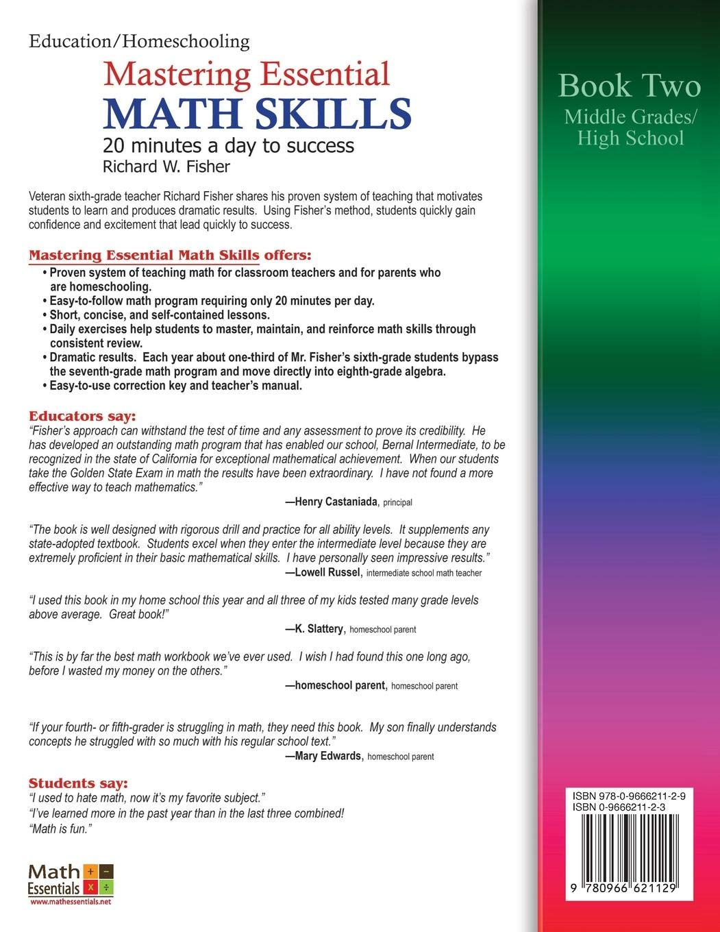 Mastering Essential Math Skills: 20 Minutes a Day to Success, Book 2