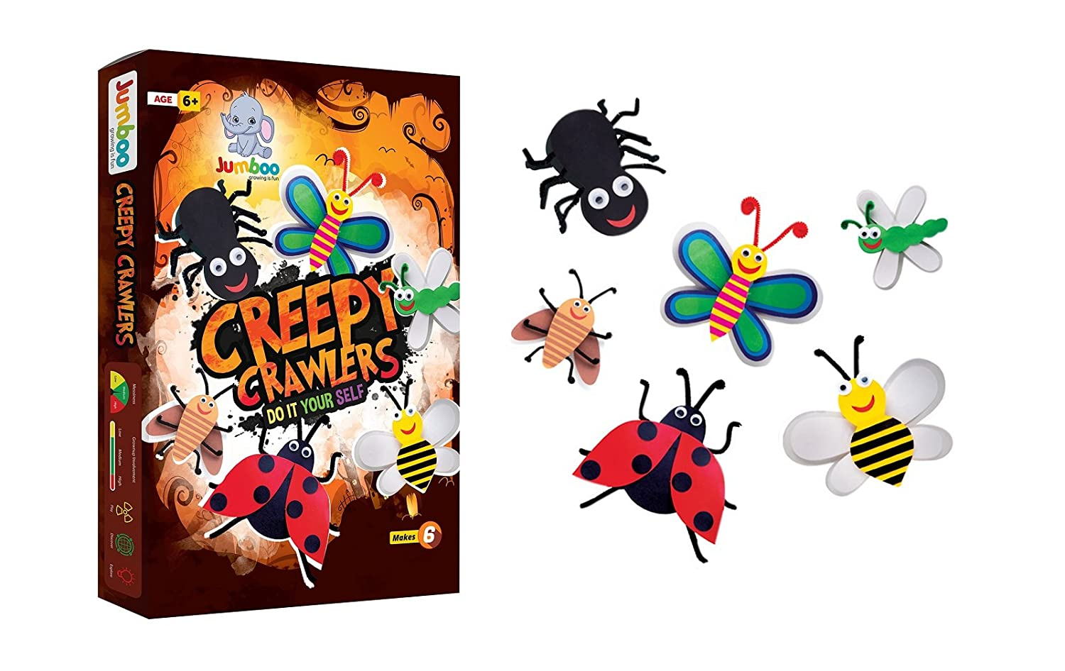 Buy Jumboo 3D DIY Art and Craft Set For Kids-Creepy Crawlers Online