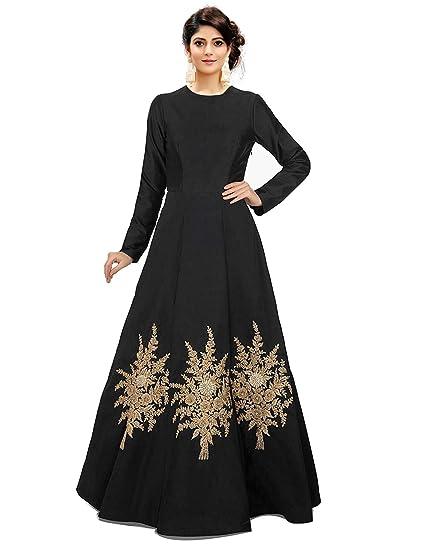 Royal Export Women s A-Line Party Wear Dress (Anu-Black Black Free ... 74b99a427
