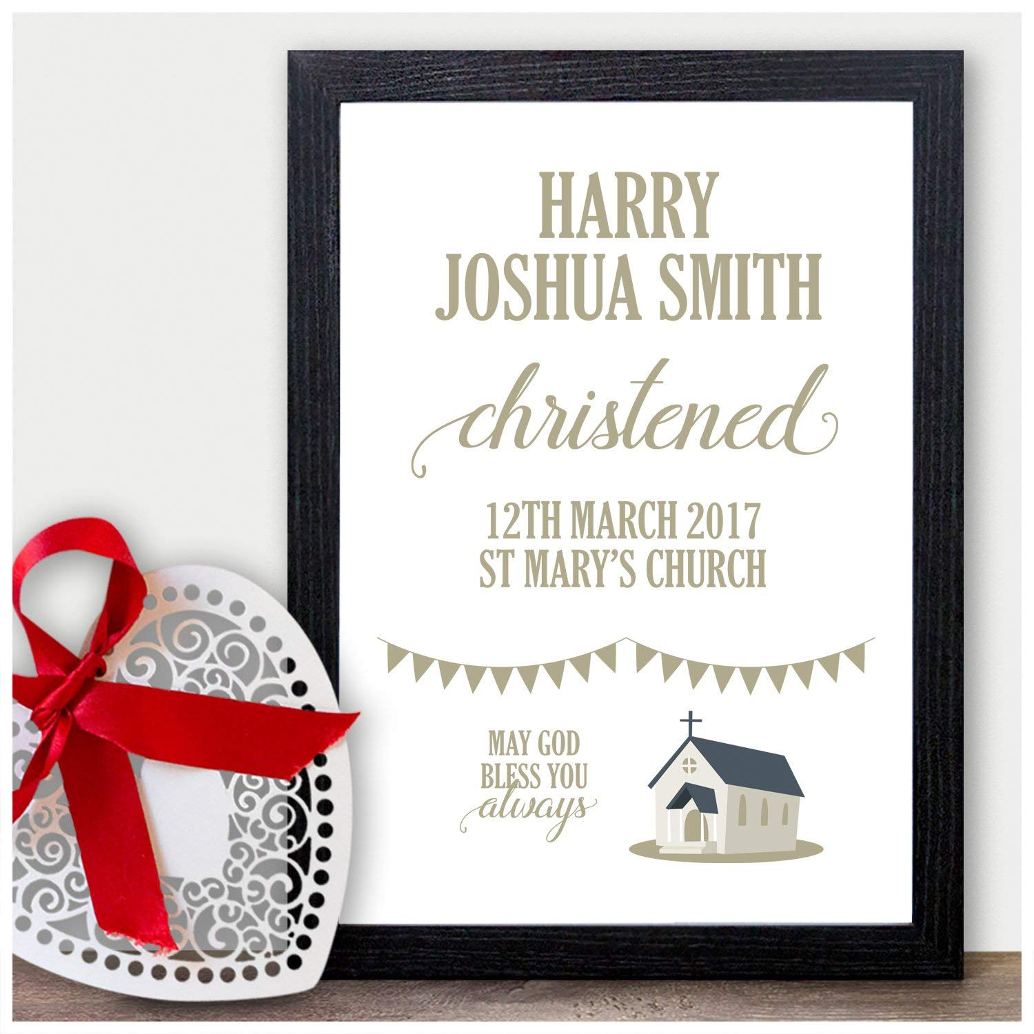 Christening Ceremony ANY name and colour fully personalised My Naming Baby V