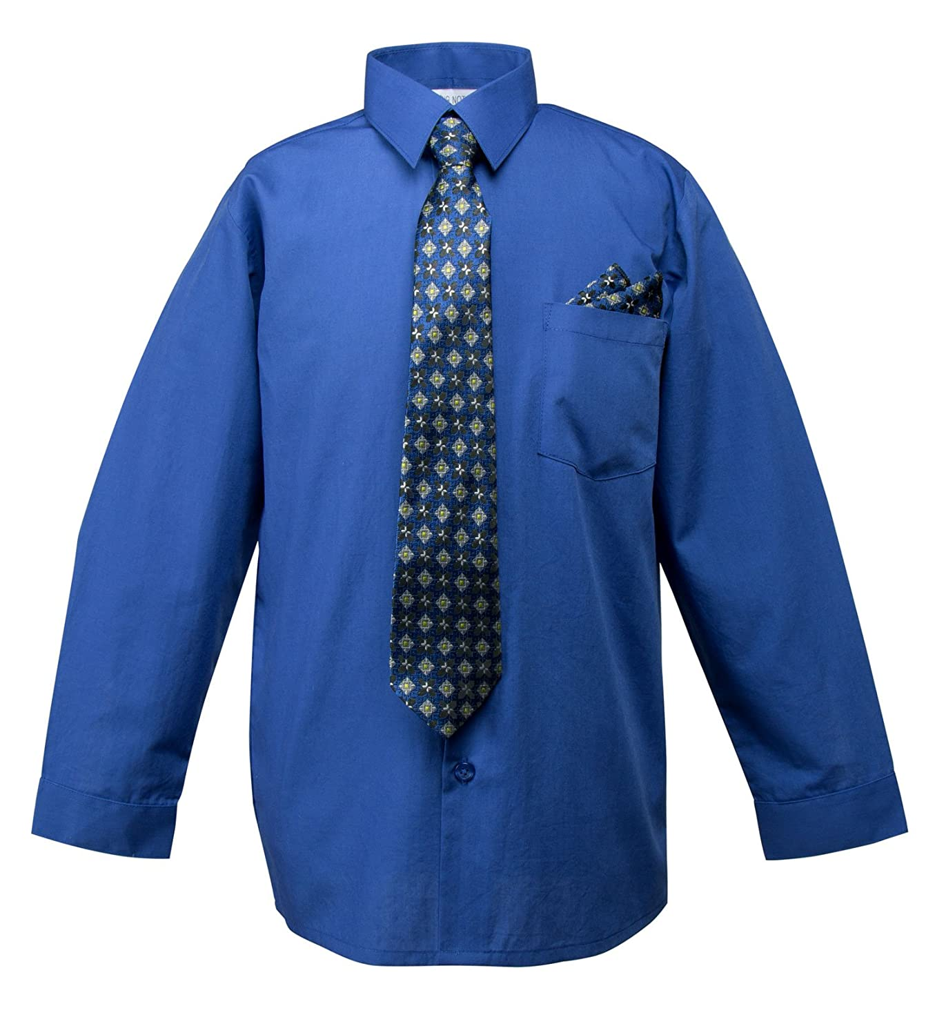 Spring Notion Baby Boys Dress Shirt with Tie and Handkerchief Set