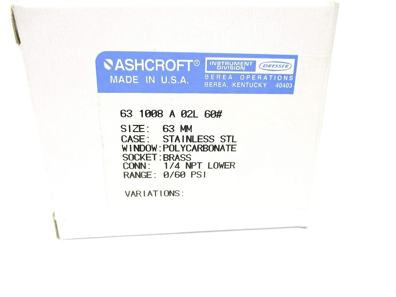 Ashcroft 631008A02L60# 60PSI NSMP