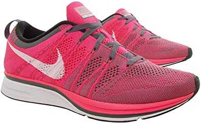 Amazon.com | NIKE Flyknit Trainer Mens Running Shoes, Pink ...