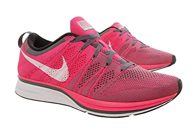 d27e9d5bf Amazon.com | NIKE Flyknit Trainer Mens Running Shoes, Pink Flash ...