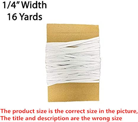ZS-03 Flat Elastic Band Braided Stretch Strap Cord Roll for Sewing and Crafting Width 1//4 inch=6mm,Length 70 Yards,White