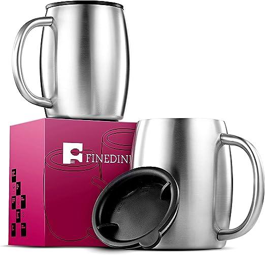 Amazon.com: FineDine taza de café de acero inoxidable ...