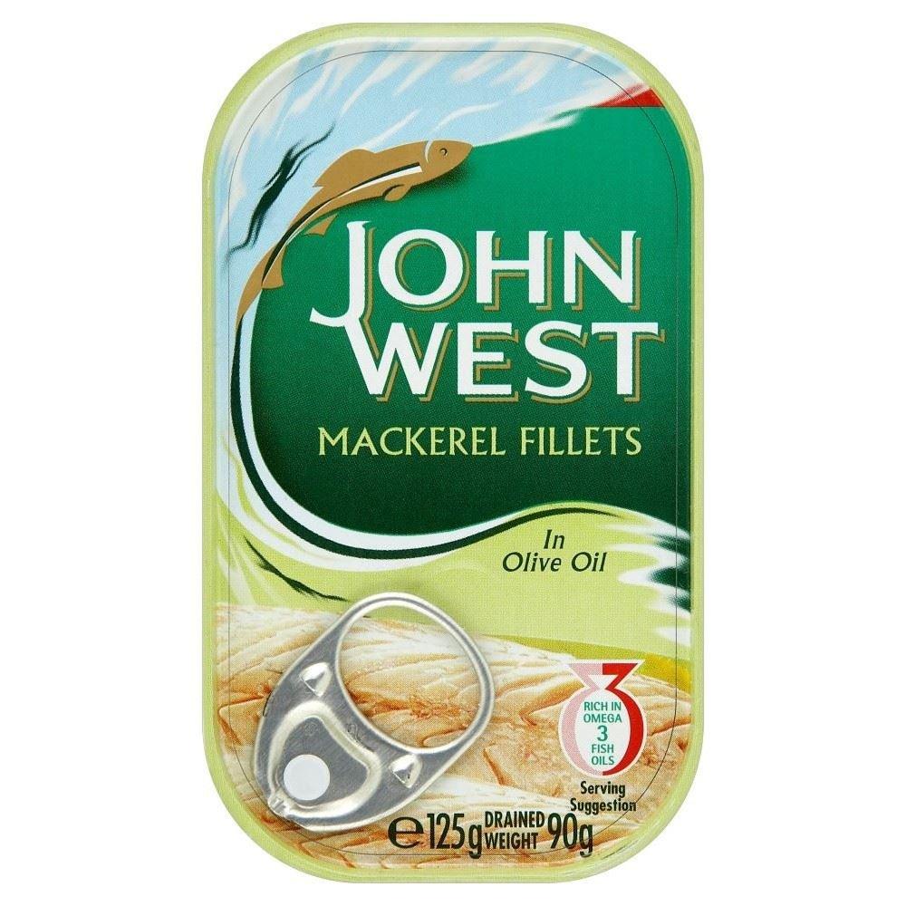 John West Filets de maquereaux à l'huile d'olive (liste 125g) - Paquet de 2