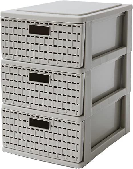 25.5 x 18 x 28.5 cm Sundis 4536011.0 Cassettiera Bianco