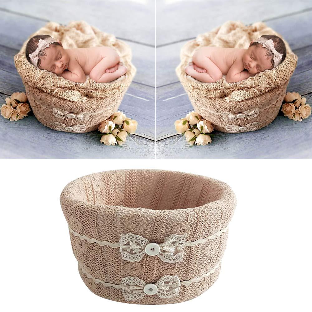 Show Cesta para fotograf/ía de beb/é Accesorios de Regalo de cumplea/ños Redondos Espuma de algod/ón k4 Accesorios de Regalo para Baby Little Newborn Frame Studio Exquisite