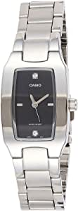 Casio Women's Black Dial Stainless Steel Analog Watch - LTP-1165A-1CDF