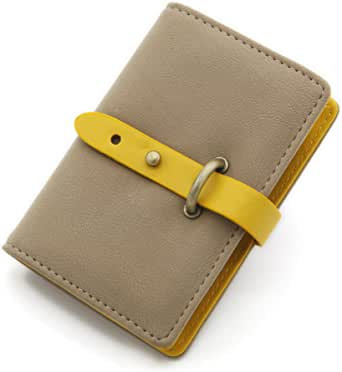 DEEZOMO PU Leather Unisex Credit Card Holder with 26 Card Slots - Book Style