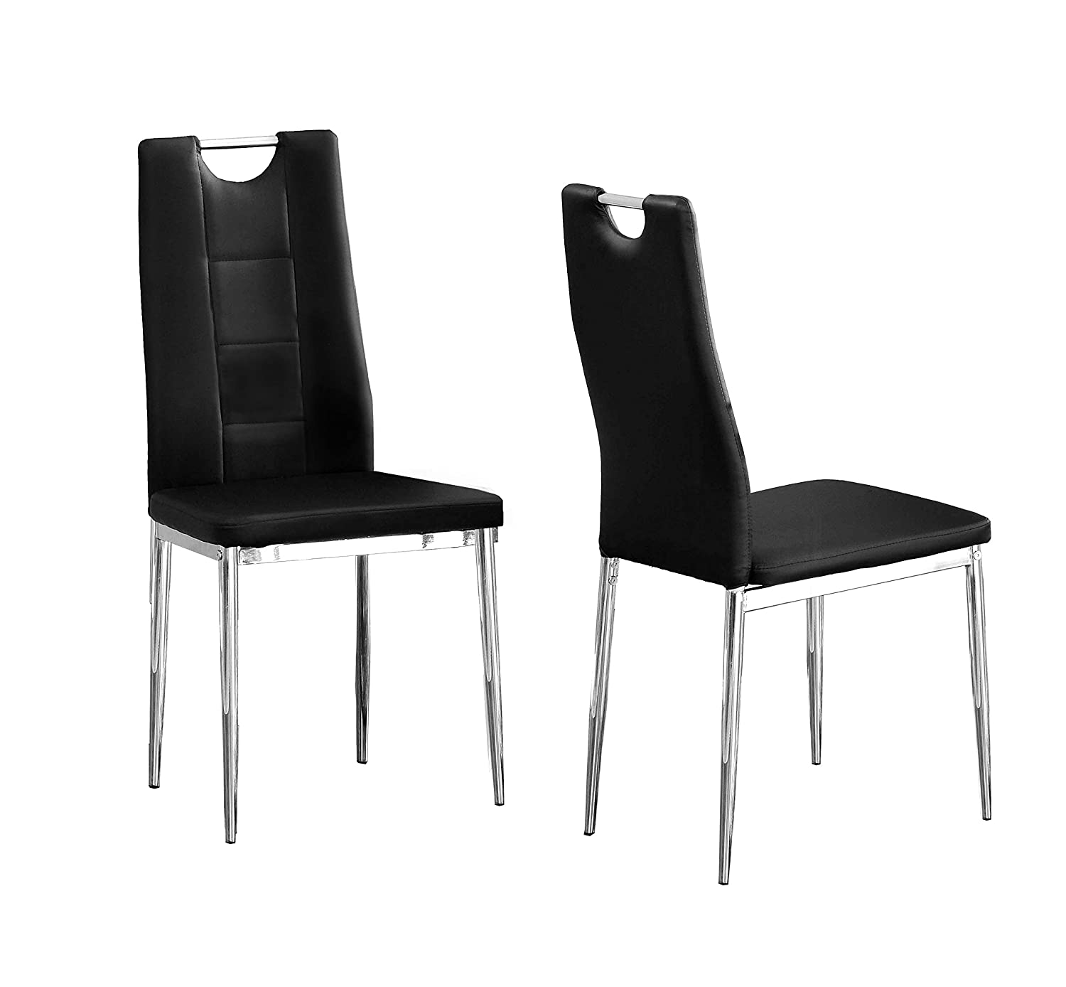 Best Master Furniture Crystal Dining Chairs Set of 2, Black