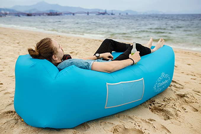 Outstanding Utebebe Inflatable Lounger Air Sofa Blow Up Couch Chair Outdoor Lazy Sofa Air Lounger Inflatable Lazy Bag Air Hammock Portable Couch For Beach Unemploymentrelief Wooden Chair Designs For Living Room Unemploymentrelieforg