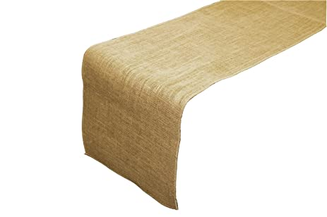 LA Linen 12 By 144 Inch Jute Burlap Table Runner / Pack Of 1 /
