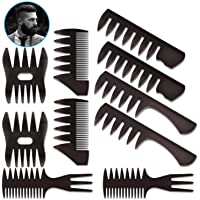 10 Pack Hair Comb Styling Set Barber Hairstylist Accessories,DanziX Professional Shaping Wet Pick Barber Brush Kit Wide…