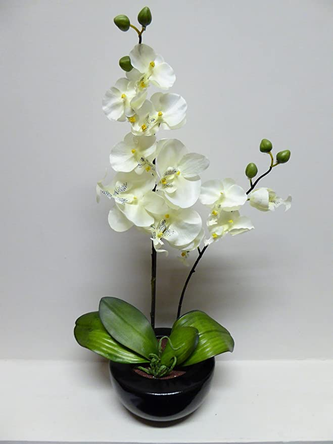 UK-Gardens Large Pink Orchid Artificial Potted Plant 46cm ...