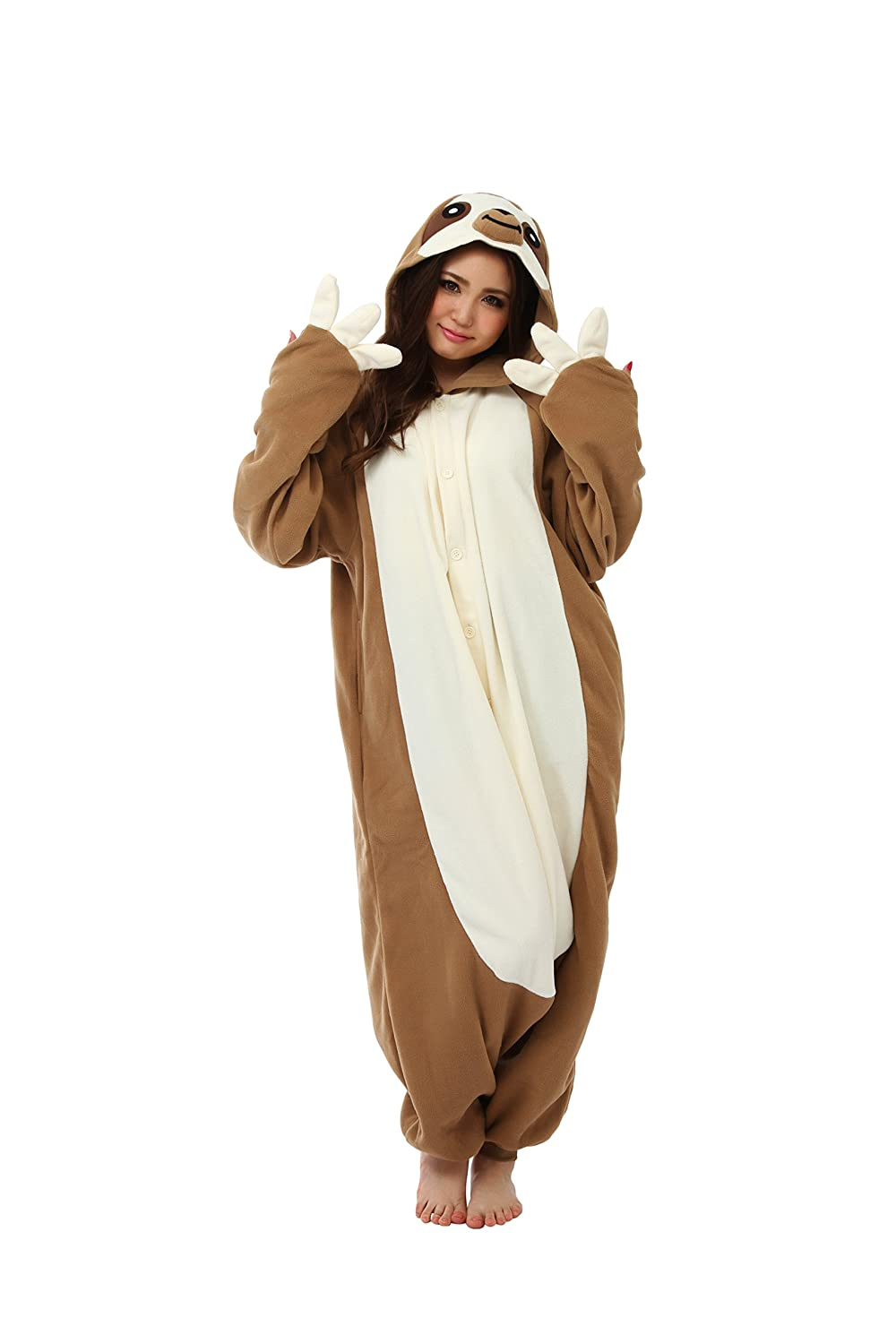 4738b0ec52dd Amazon.com  Sloth Kigurumi Onesie Costume  Clothing