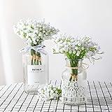 Veryhome 10pcs Bébé Breath Fleurs DIY Artificielle gypsophile Arrangement de Bouquets de Fleurs de Mariage Décoration de Maison (Blanc)