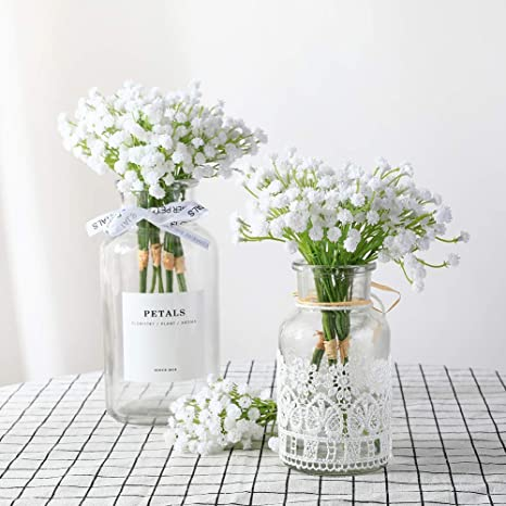 Veryhome 10 Ramos De Flores Artificiales De Gypsophila Para Decoración Del Hogar Color Blanco