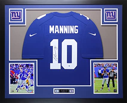 Eli Manning Autographed Blue New York Giants Jersey