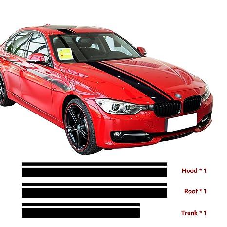3pcsset Hood Roof Trunk Engine Cover Top Rear Racing Stripes Vinyl Decal Sticker For Bmw F30 F31 F32 F34 F36 E90 E92 E46 M3 M4 5d Carbon Fibre