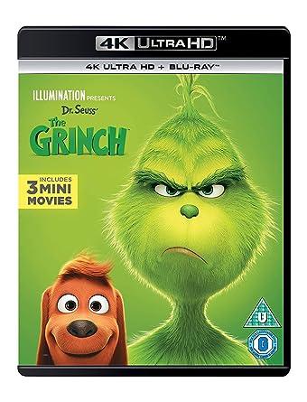 Amazon Com The Grinch 2018 4k Uhd Blu Ray Benedict Cumberbatch Rashida Jones Angela Lansbury Kenan Thompson Scott Mosier Yarrow Cheney Movies Tv