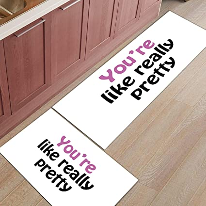 Amazon.com : Kitchen Rugs Sets 2 Piece Kitchen Floor Mats Non-Slip ...