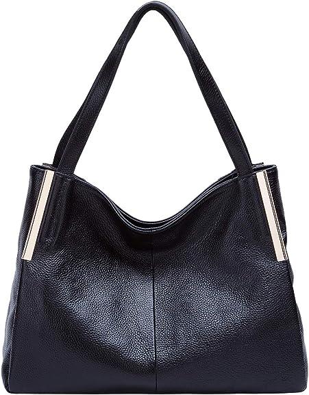 matching purse//wallet Double zip Black New Women Genuine leather shoulder bag