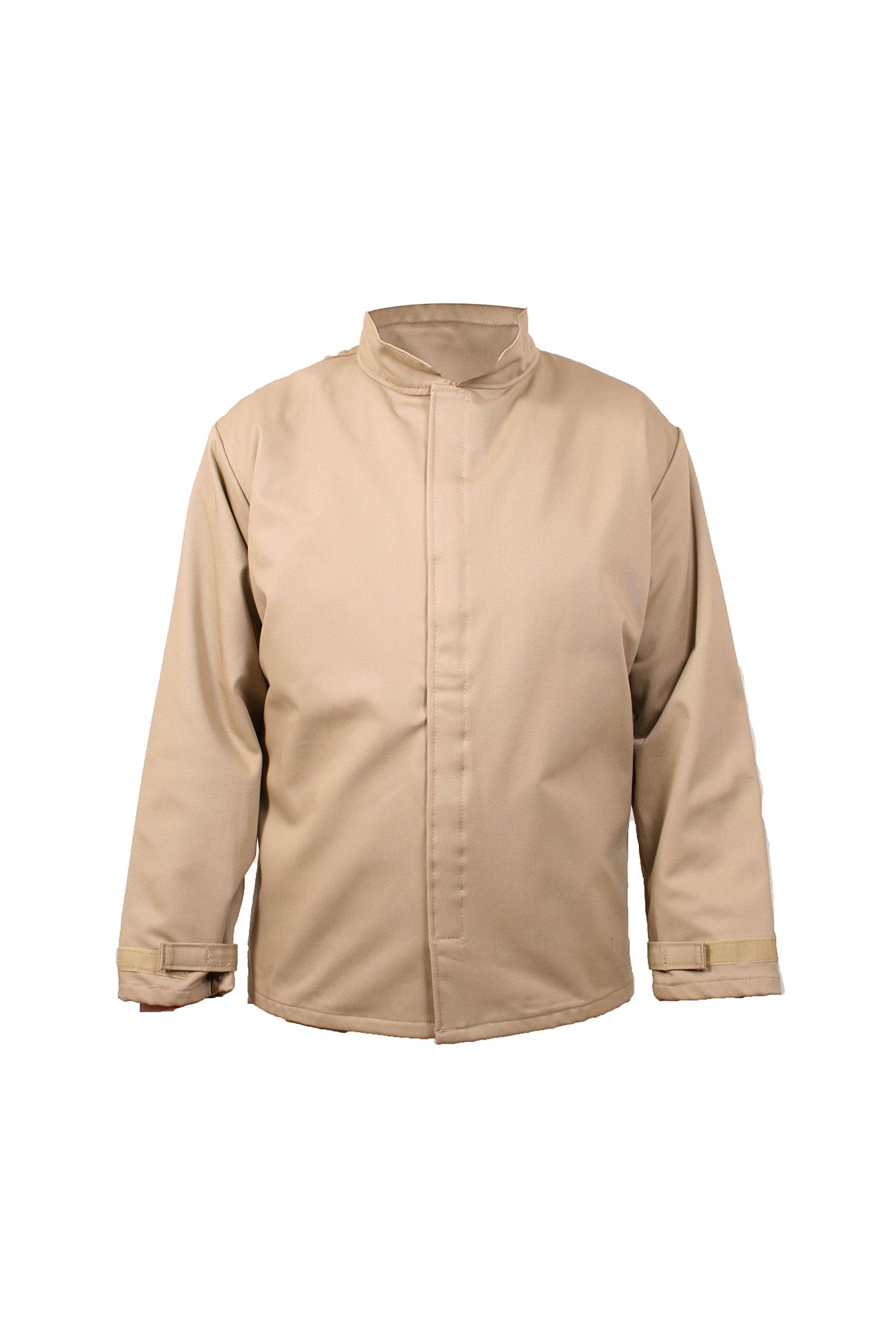 National Safety Apparel C07HKHKECXL32 ArcGuard Economy Arc Flash Short Coat, X-Large, Khaki