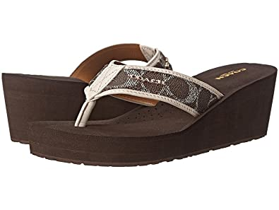 Womens Sandals COACH Jolene Black/Brown/Chalk