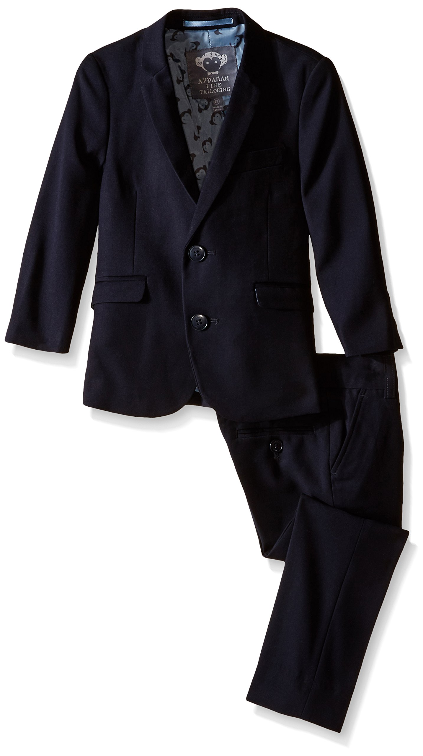 Appaman Little Boys' Core Two Piece Classic Mod Suit, Navy, 7 by Appaman