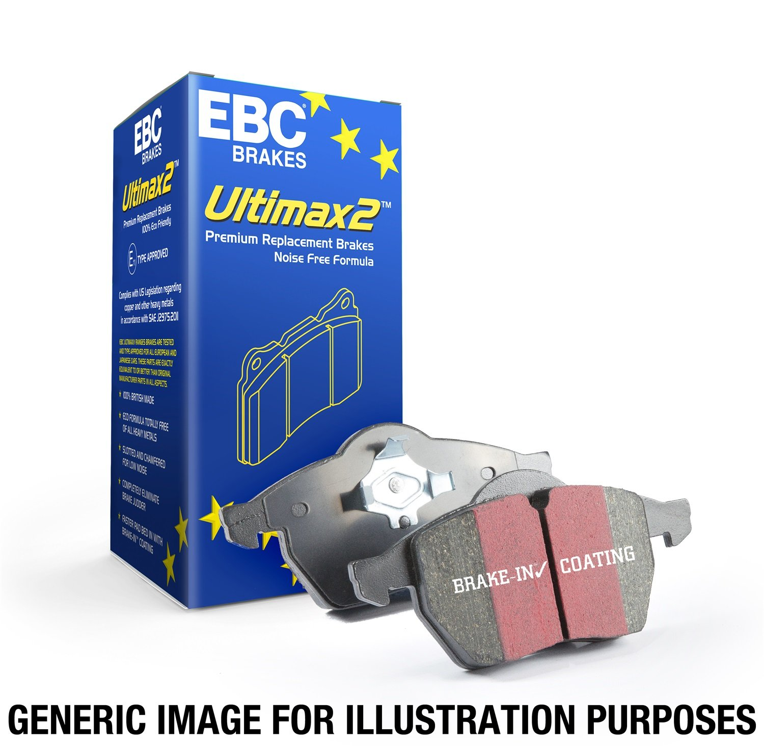 EBC Brakes UD1044 Ultimax OEM Replacement Brake Pad