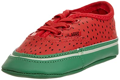 vans shoes red and black. vans watermelon toddler youth girls authentic shoes red/black/green (1) red and black r