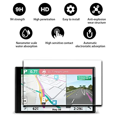 "YEE PIN RV 770 Screen Protector & Traffic GPS Navigator 6.95"" Display Glass Screen Protector for RV 770 780 6.95 Inch Touch Screen Glass Protective Automatic Adsorption Scratch Resistance"