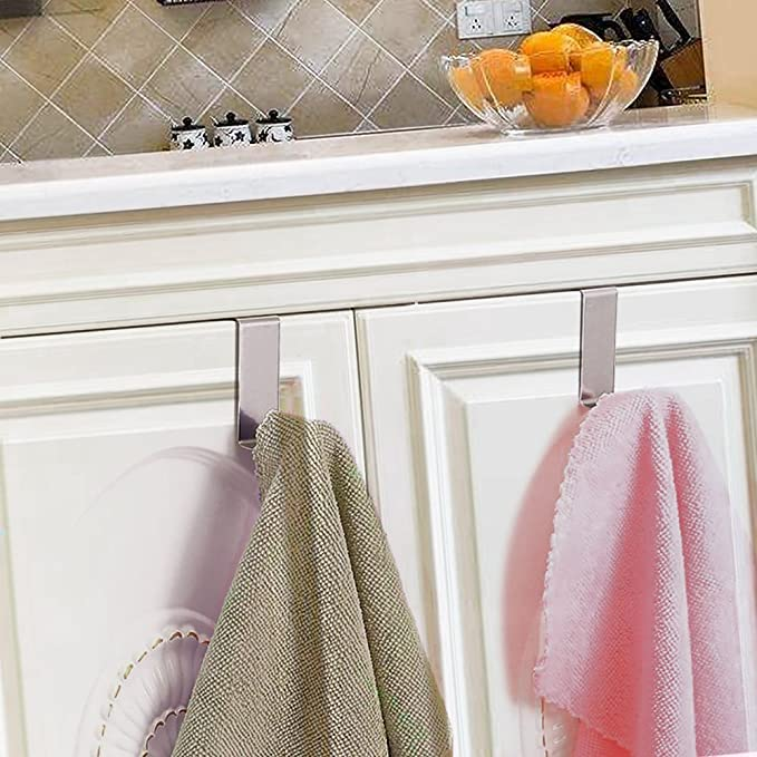 Over The Door Hook - Free Moving Adjustable Storage Organizer Rack for Hand Towel,Coat,Hat,Clothes,Hanger,Kraft Paper Bags,Towel Coat Rack Hats - ...