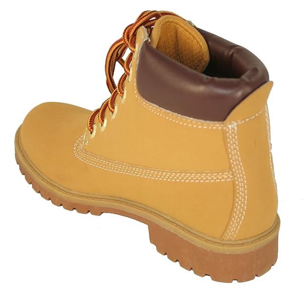 Land Rover Landrover - Botas de Material Sintético para mujer Amarillo marrón (Wheat): Amazon.es: Zapatos y complementos