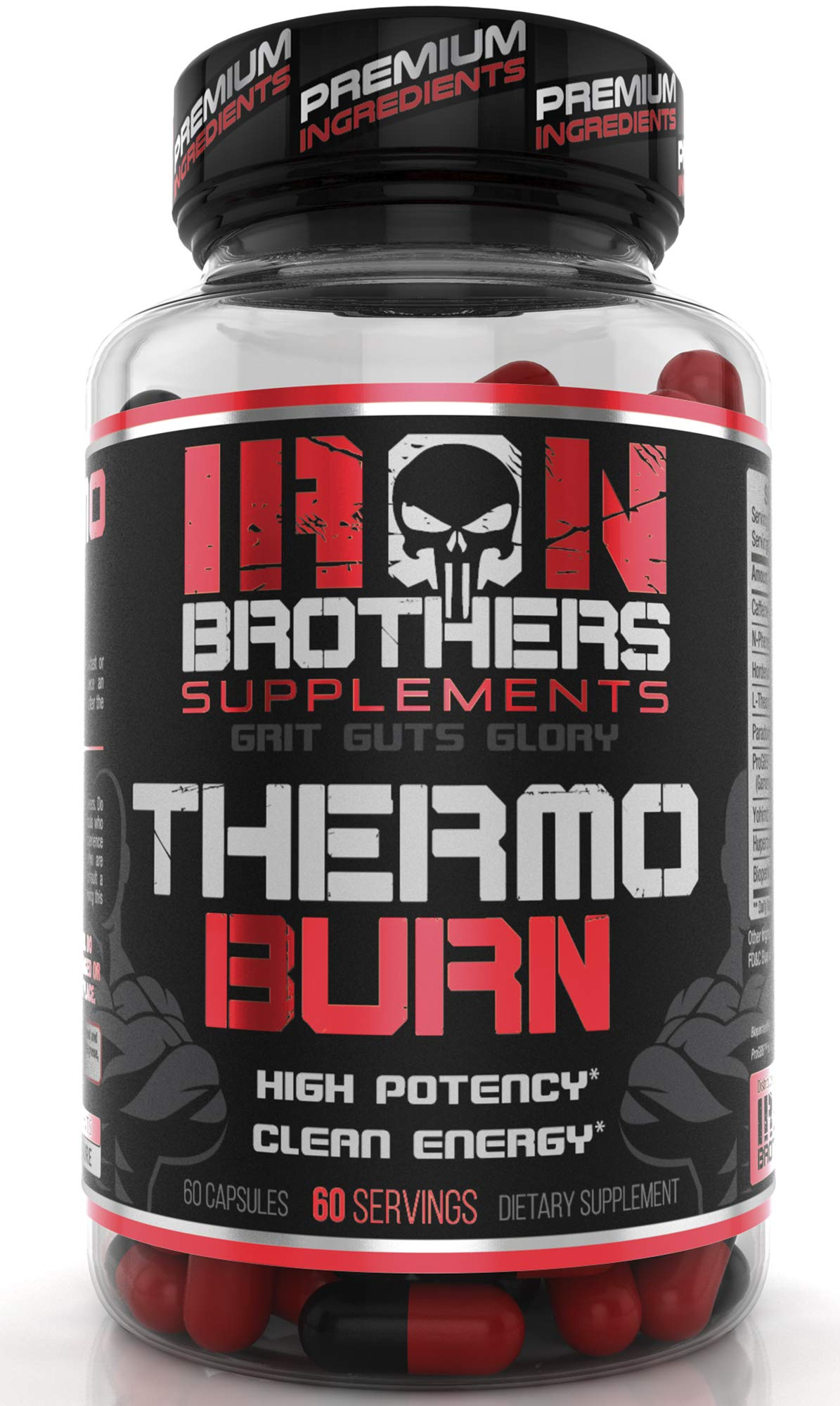Thermogenic Fat Burners for Men/Women - Hardcore Weight Loss Pills - Appetite Suppressant- Premium Metabolism/Energy Booster - 60 Gel Capsules - Keto Friendly - Iron Brothers Thermo Burn by Iron Brothers Supplements