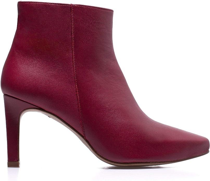 Stiletto Botín tacón Fino Mujer Rojo: Amazon.es: Zapatos y ...