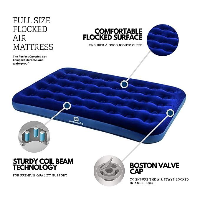 Amazon.com: Colchón de aire Outbound de tamaño completo para ...