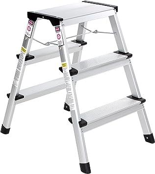 Songmics Escalera escalera TÜV Rheinland según EN 131 agarre Bar Altura de trabajo de 240 cm fácil glt23 K: Amazon.es: Bricolaje y herramientas