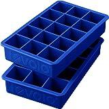 Tovolo - 硅树脂完善的冰块盘子层云蓝色 - 2 小包