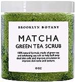 Matcha Green Tea Body Scrub - Exfoliating Multi Purpose Body and Facial Scrub Moisturizes and Nourishes Face and Skin - 10 oz - Brooklyn Botany