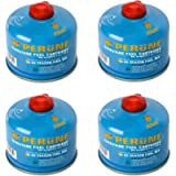 Perune Iso-Butane Camping Fuel Gas Canister All Season Mix - 230gram (4 Pack)