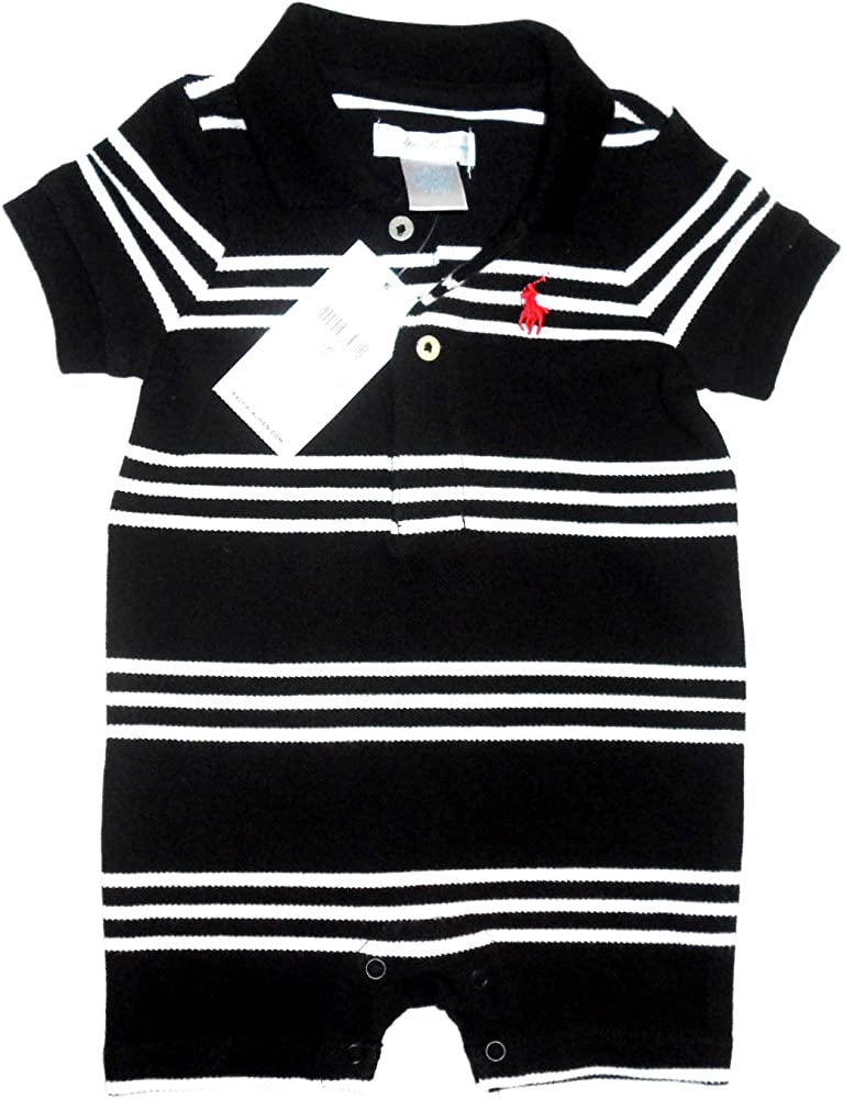 Ralph Lauren - Mono - para bebé niño Negro negro: Amazon.es: Ropa ...