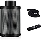 6 Inch Air Carbon Filter with Australia Virgin Activated Charcoal Prefilter Included Odor Control Scrubber for Grow Tent…
