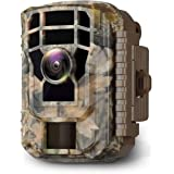 Campark Mini Trail Camera 16MP 1080P HD Game Camera Waterproof Wildlife Scouting Hunting Cam with 120° Wide Angle Lens and Ni